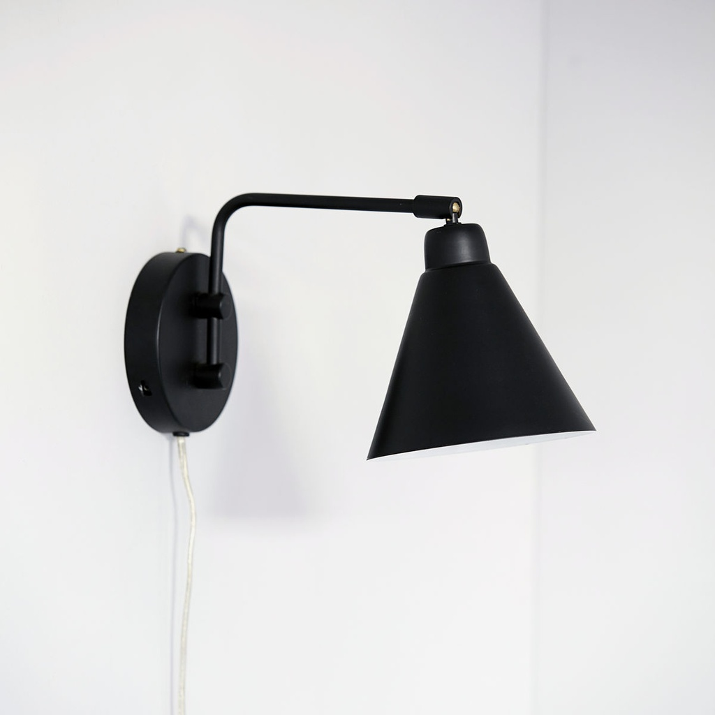Wall lamp, Game, Black/White 15x30 E14 max25W 2.2m johto
