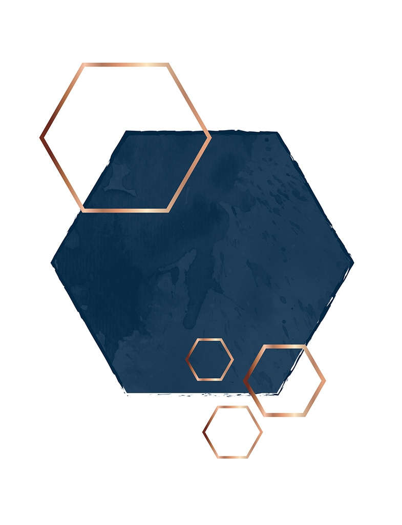 "Taulu ""Hexagon overlap"" 40 x 50"